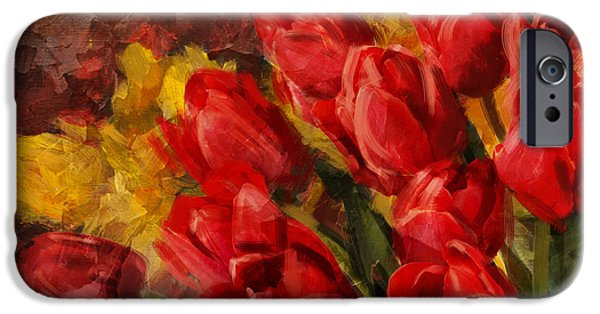 Flowers On Canvas Art iPhone Cases - Floral 12B iPhone Case by Mahnoor Shah