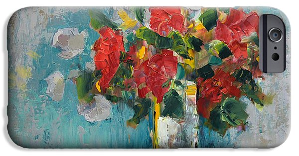 Flowers On Canvas Art iPhone Cases - Floral 13 iPhone Case by Mahnoor Shah
