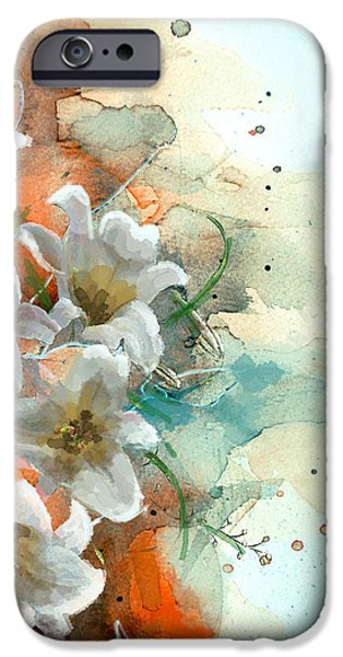 Flowers On Canvas Art iPhone Cases - Floral 14 iPhone Case by Mahnoor Shah