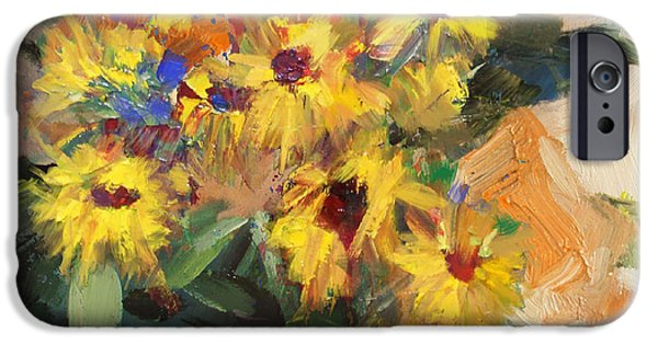 Flowers On Canvas Art iPhone Cases - Floral 15 iPhone Case by Mahnoor Shah