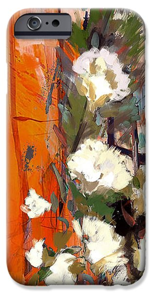 Flowers On Canvas Art iPhone Cases - Floral 17B iPhone Case by Mahnoor Shah