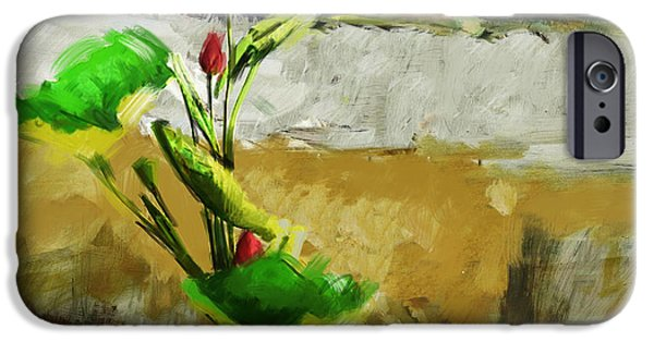 Flowers On Canvas Art iPhone Cases - Floral 2 iPhone Case by Mahnoor Shah