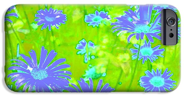 Nature Abstracts iPhone Cases - Floral #28 iPhone Case by Ninie AG
