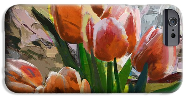 Flowers On Canvas Art iPhone Cases - Floral 4 iPhone Case by Mahnoor Shah