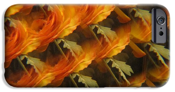 Flora Drawings iPhone Cases - Floral Abstract 2 iPhone Case by Tara  Shalton
