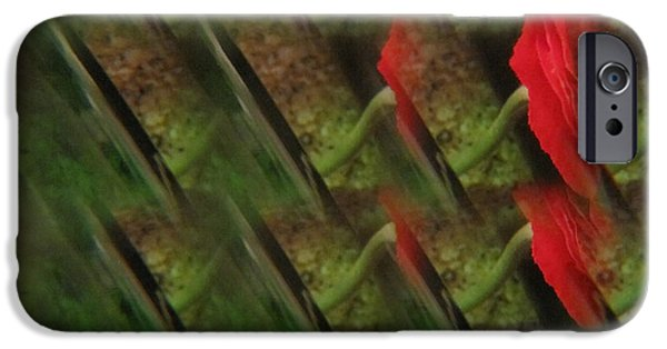 Flora Drawings iPhone Cases - Floral Abstract 5 iPhone Case by Tara  Shalton