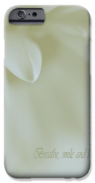 Floral Abstract Peacefulness iPhone Case by Irina Wardas