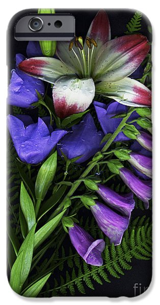 Scanography iPhone Cases - Floral Bouquet 2 iPhone Case by Sharon  Talson