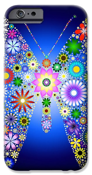 Floral Butterfly iPhone Case by Tim Gainey