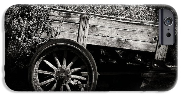 Wooden Wagons iPhone Cases - Floral Cart iPhone Case by Camille Lopez