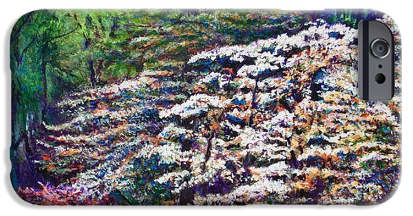 Impressionistic Landscape Paintings iPhone Cases - Floral Cathedral iPhone Case by Michael Durst