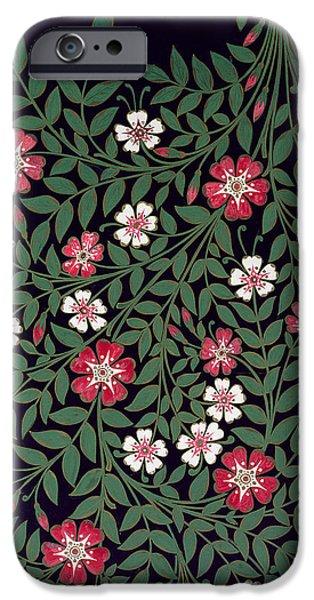 Nineteenth iPhone Cases - Floral Design iPhone Case by Owen Jones