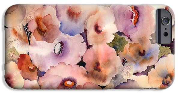 Tasteful Art iPhone Cases - Floral Dreams iPhone Case by Neela Pushparaj