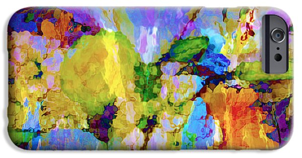 Ann Johndro-collins iPhone Cases - Floral Dreamscape iPhone Case by Ann Johndro-Collins