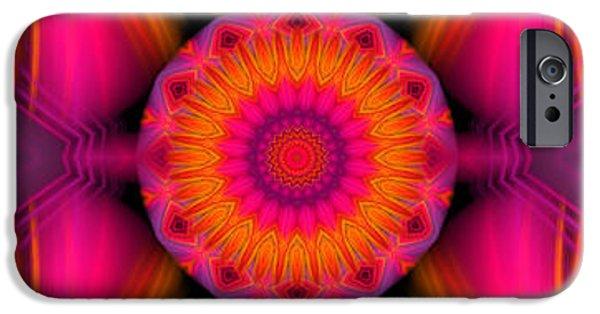 Floral Digital Art Digital Art iPhone Cases - Floral Fantasy iPhone Case by Hanza Turgul