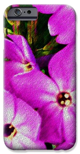 Floral Digital Art Digital Art iPhone Cases - Floral Fun 012714 iPhone Case by David Lane
