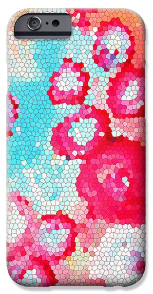 Abstract Expressionist iPhone Cases - Floral III iPhone Case by Patricia Awapara