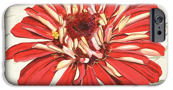 Graphic Design Paintings iPhone Cases - Floral Inspiration 1 iPhone Case by Debbie DeWitt