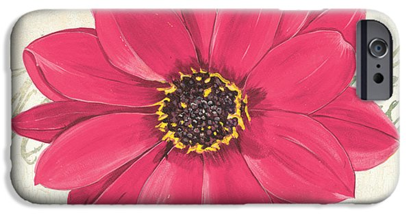 Fuchsia iPhone Cases - Floral Inspiration 3 iPhone Case by Debbie DeWitt