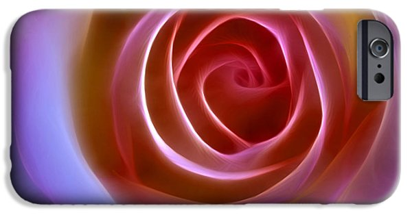 Floral Digital Art Digital Art iPhone Cases - Floral Light iPhone Case by Ann Croon