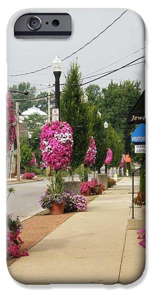 Floral Lining iPhone Case by Caryl J Bohn