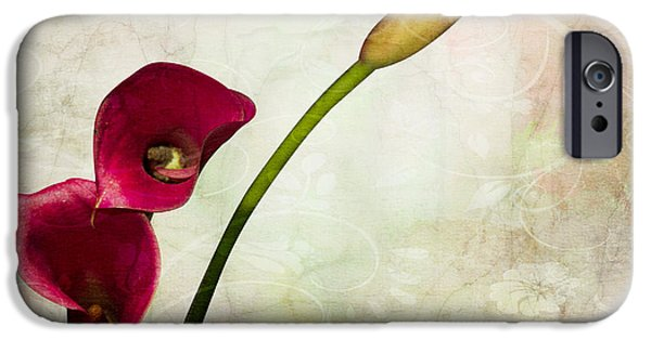 Orsillo Digital iPhone Cases - Floral  iPhone Case by Mark Ashkenazi