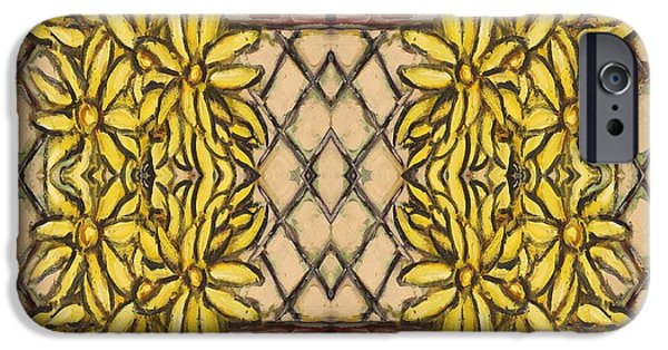 Cell Mixed Media iPhone Cases - Floral iPhone Case by Patrick J Murphy