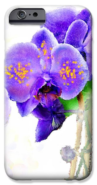 Florals iPhone Cases - Floral series - Orchid iPhone Case by Moon Stumpp