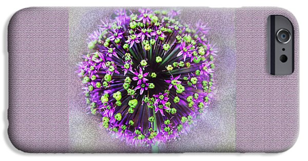 Floral Photographs iPhone Cases - Floral with textures iPhone Case by Debbie Nobile