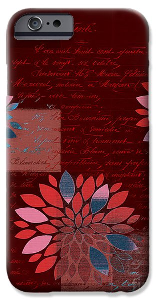 Texture Flower iPhone Cases - Floralis - 833 iPhone Case by Variance Collections