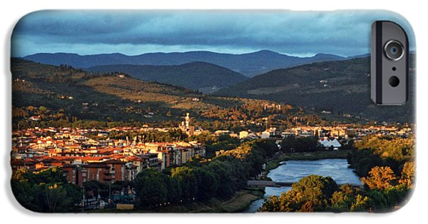 Michael Angelo iPhone Cases - Florence at Sunset iPhone Case by Elaine Walsh