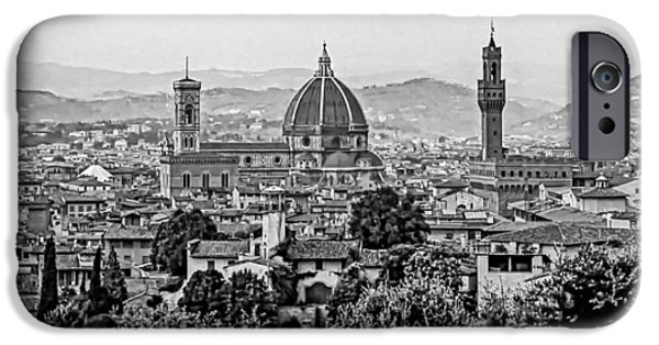 The Duomo iPhone Cases - Florence bw iPhone Case by Steve Harrington