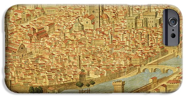 Geographic iPhone Cases - Florence  Carta della Catena iPhone Case by Italian School
