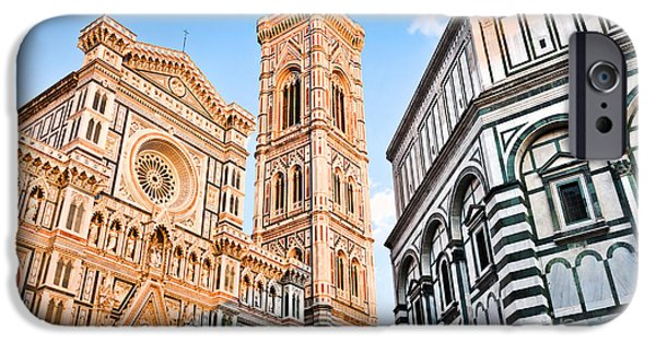 The Duomo iPhone Cases - Florence Cathedral at sunset iPhone Case by JR Photography