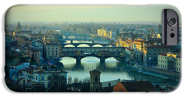River View Pyrography iPhone Cases - Florence iPhone Case by Evgenia Zarubin