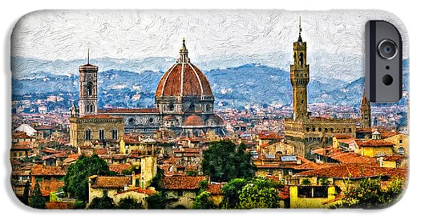 Metal Print iPhone Cases - Florence impasto iPhone Case by Steve Harrington