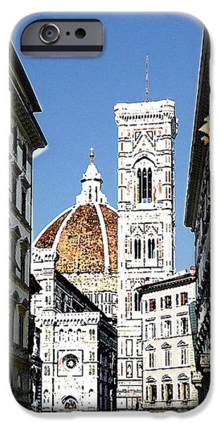 Florence Cathedral iPhone Cases - Florence Italy Santa Maria Fiori Duomo iPhone Case by Irina Sztukowski