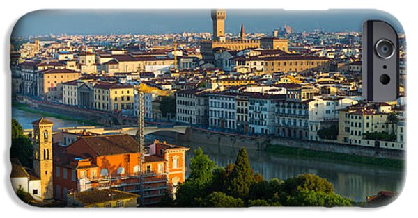 Culture iPhone Cases - Florence Panorama iPhone Case by Inge Johnsson