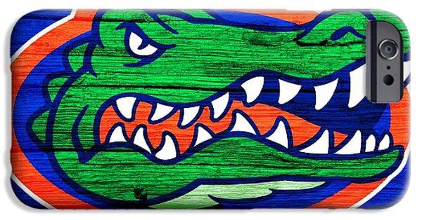 Sec iPhone Cases - Florida Gators Barn Door iPhone Case by Dan Sproul