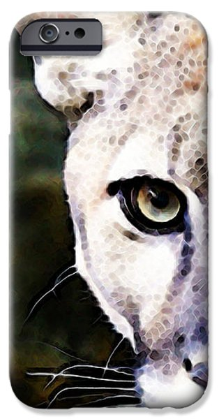 Panther Digital iPhone Cases - Florida Panther Art - Hungry iPhone Case by Sharon Cummings
