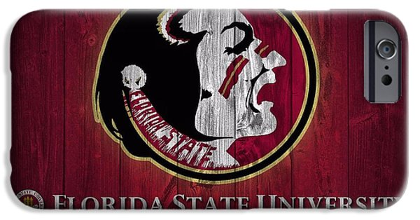 Barns Mixed Media iPhone Cases - Florida State University Barn Door iPhone Case by Dan Sproul