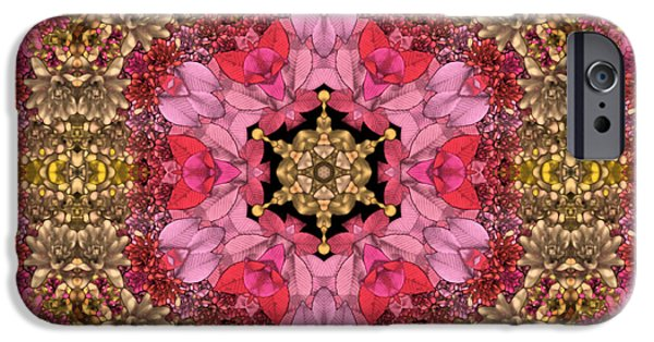 Floral Digital Art Digital Art iPhone Cases - Florissimo Mandakal s01-01b iPhone Case by Variance Collections