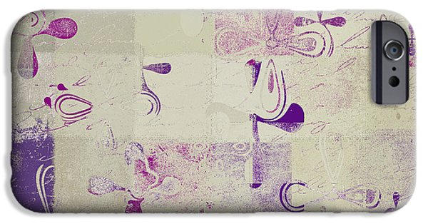 Abstract Digital iPhone Cases - Florus Pokus a01d iPhone Case by Variance Collections