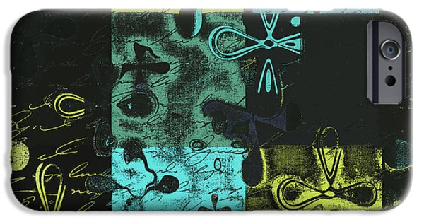 Abstract Digital Digital Art iPhone Cases - Florus Pokus a02 iPhone Case by Variance Collections