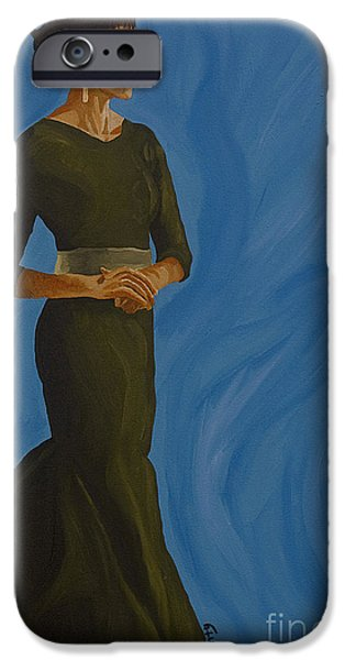 Michelle Obama Paintings iPhone Cases - Flotus iPhone Case by Cindy P Canty