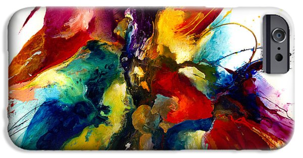 Abstract Expressionist iPhone Cases - Flourish III iPhone Case by Jonas Gerard