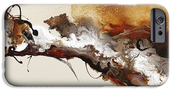 Abstract Expressionism iPhone Cases - Flow #164 iPhone Case by Jonas Gerard