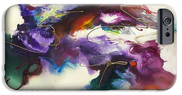 Recently Sold -  - Abstract Expressionism iPhone Cases - Flow #175 iPhone Case by Jonas Gerard