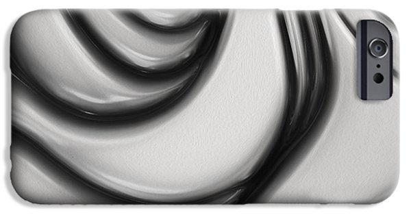 Recently Sold -  - Abstract Forms iPhone Cases - Flow II iPhone Case by Jack Zulli