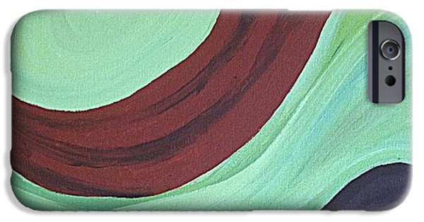 Abstract Forms iPhone Cases - Flow iPhone Case by Megan Zilm
